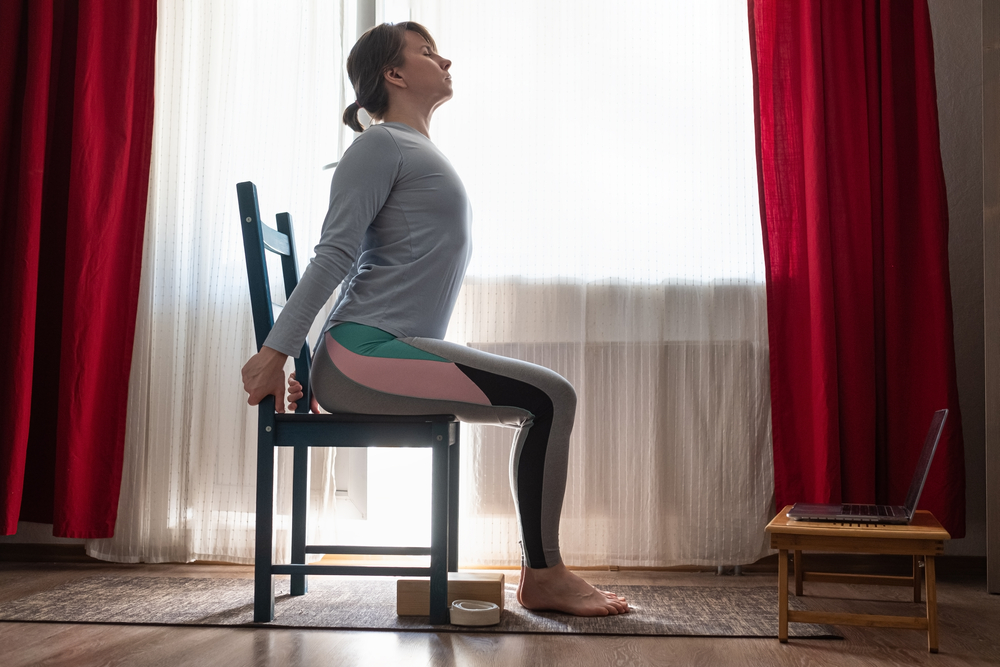 yoga stretches to do in the office